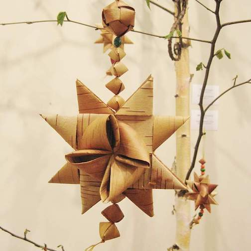 Julie Kean will be demonstrating how to weave birchbark at North House Folk School from Thursday through Sunday. She will teach a mini-class on weaving a birchbark star ornament on Saturday morning at 10 a.m.
