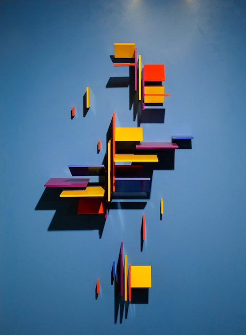 Charles Biederman has two pieces in the Asymmetry exhibit at the Tweed.