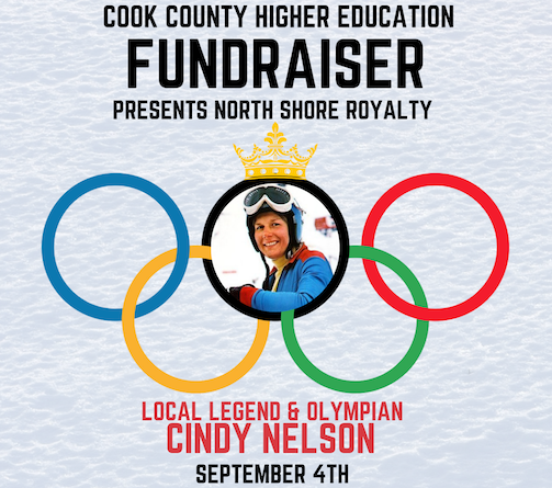 Olympian Cindy Nelson will speak at the fundraiser for Cook County Higher Education at the Summit Chalet on Lutsen Mountains on Wednesday.
