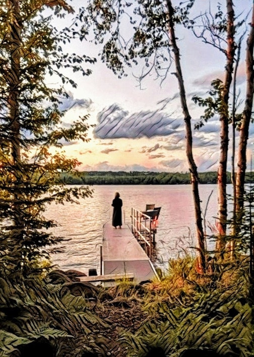 The gentle spirit of Devil Track Lake by Don Davison.
