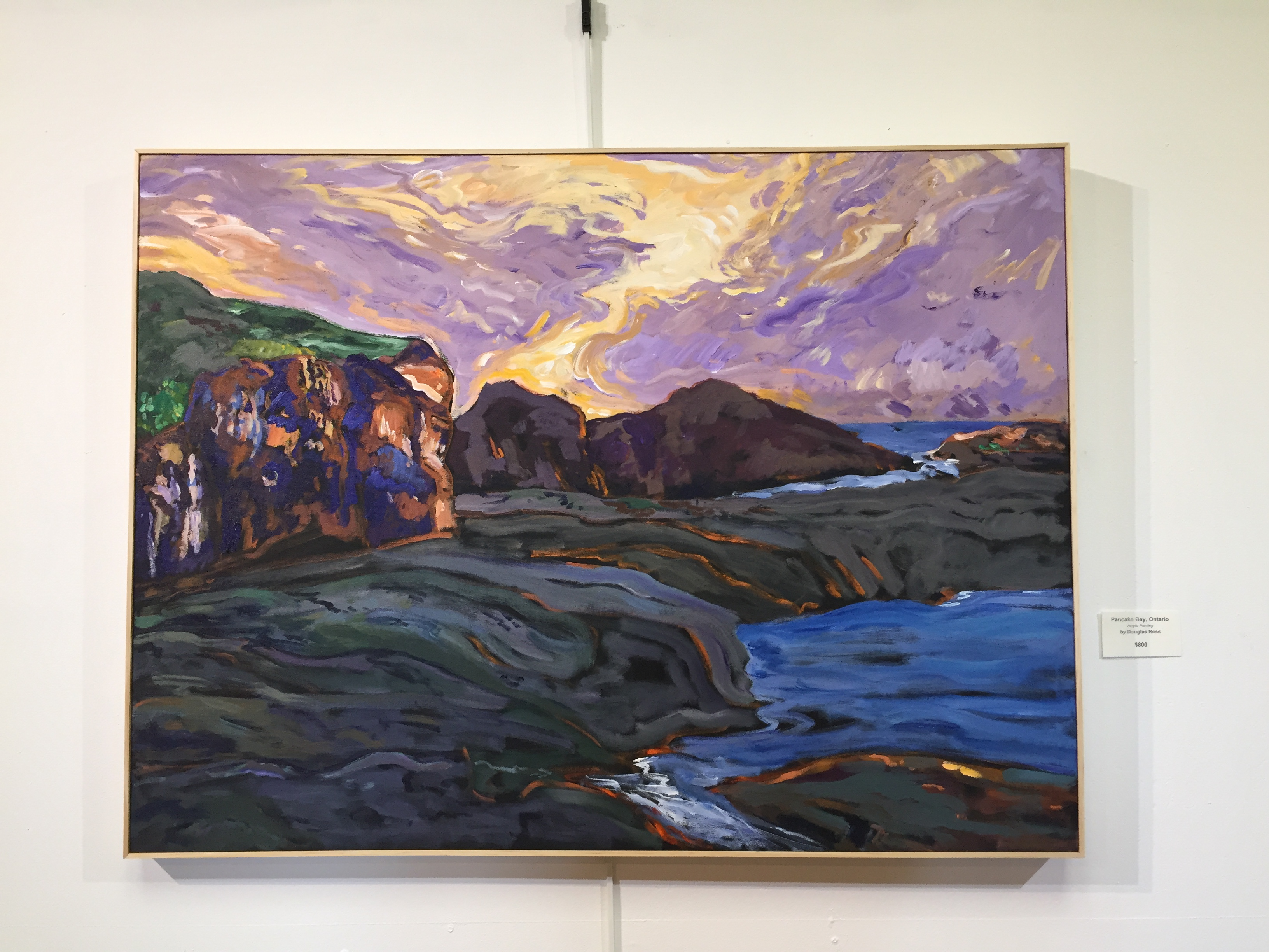 """Pancake Bay, Ontario"" by Douglas Ross is one of the paintings on exhibit at the Johnson Heritage Post."