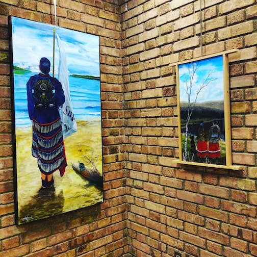 The AICHO galleries in Duluth has opened a new exhibit with work by Chris Sweet and Scott Hill.