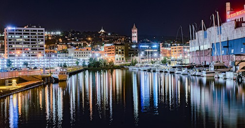 Duluth at night by Jesse Nord.