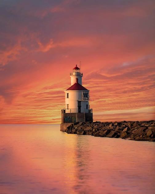 Wisconsin Point Lighthouse by Joe Polecheck.