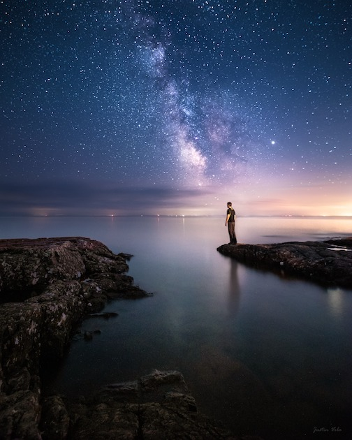 Soaking up those starlit nights by Justin Vrba.