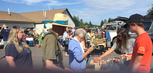 The Thursday Local Food Market is a popular place to stop on Thursday afternoons from 4:30-6 p.m.
