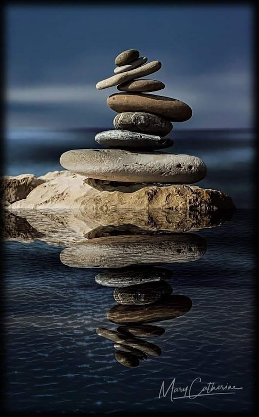 It's all about balance by Mary Hayes.