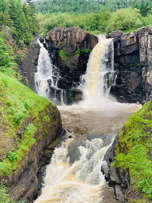 High Falls at Grand Portage in summer by Michele Wittman.