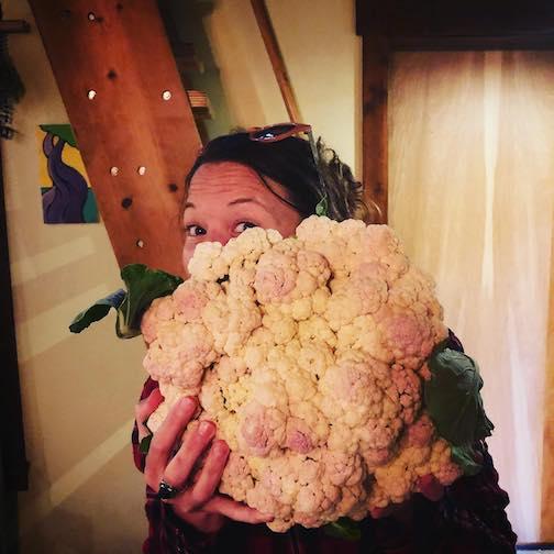 B. and her cauliflower.