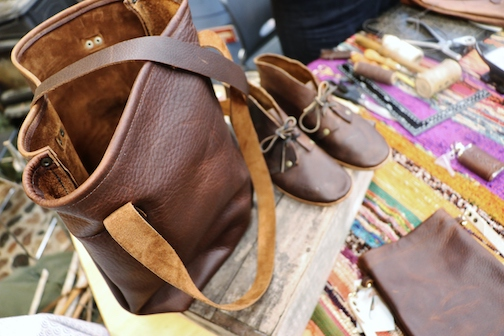 Shoemaker and leatherworker Candace LaCosse will be giving demos at North House Folk School Thursday through Sunday. She will also teach a mini-class on Saturday.