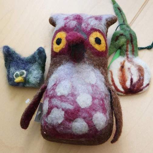Elise Kyle will teach a mini-workshop on how to make a felted finger puppet on Saturday from 10 a.m. to noon at North House Folk School.
