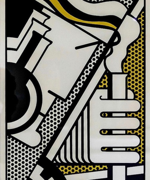 """Chem 1A,"" lithograph by Roy Lichenstein is a new acquisition at the Tweed Museum of Art."