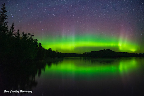 Caribou Lake Aurora by Paul Sundberg.
