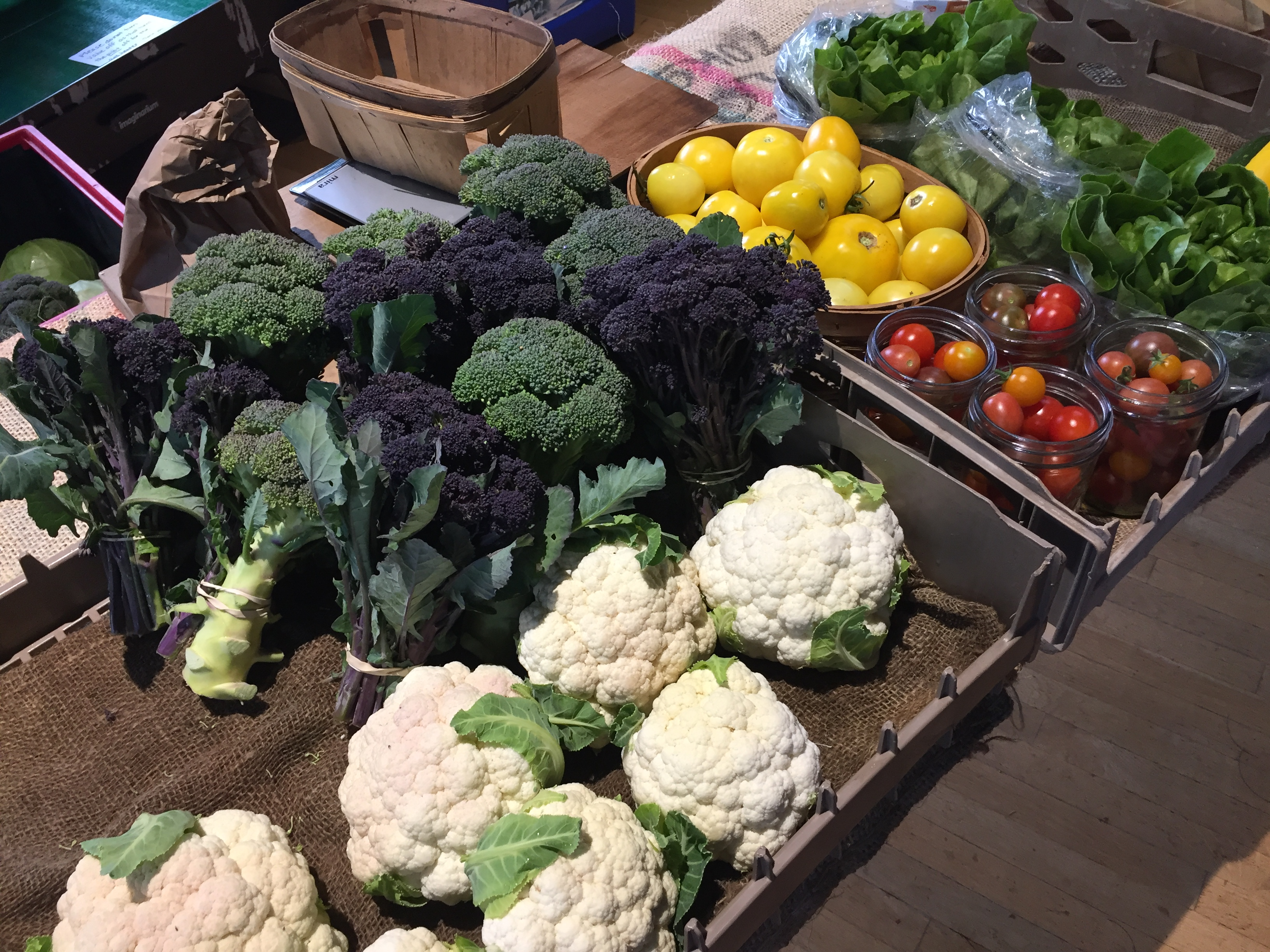The Local Food Market offers a wide variety of locally grown vegetables at the Community Center from 4:30-6 p.m. Thursday.