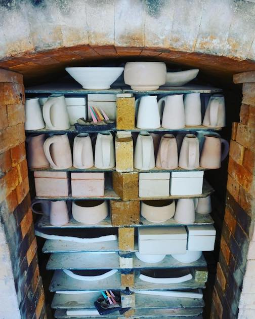 Jason Trebs, whose studio is in rural Schroeder, posted this photo of a kiln-load of pottery that will be featured on the tour.