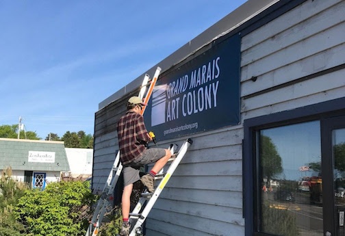 The Grand Marais Art Colony has recently purchased property along Highway 61 in Grand Marais, and will hold a fundraiser in St. Paul to help support the expansion.