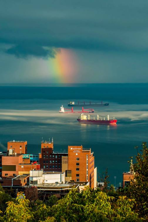 Today's view in Duluth by Dustin Lavigne.