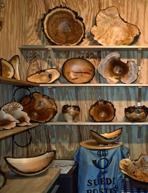 Lou Pignolet, a woodturner, has his studio in Hovland.