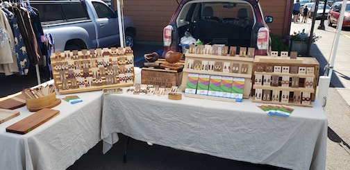Woodworker Jake Carr is one of the artists exhibiting at the Cook County Market on Saturdays. The market continues every Saturday through Oct. 19 weather permitting.
