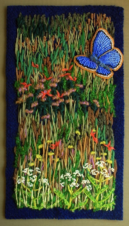 Bead painter Jo Wood has her studio in Hovland.