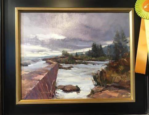 One of the award-winning paintings currently on view at the Johnson Heritage Post.