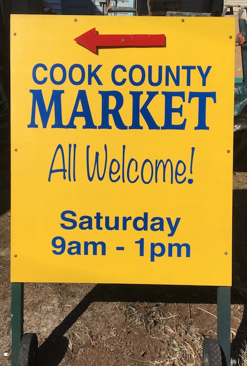 The Cook County Market is from 9 a.m. to 1 p.m. in the Senior Center parking lot.
