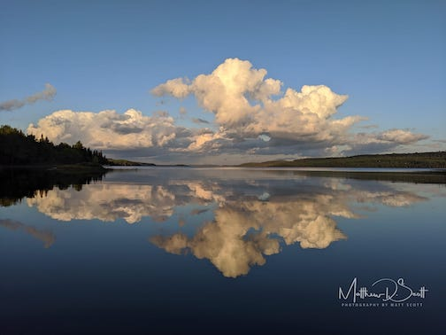 Gunflint Lake: Ontario on the left, Minnesota on the right, by Matt Scott.