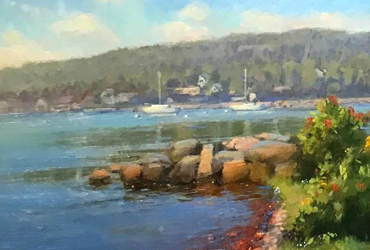 Bob Upton took second place in the main category last year for this painting of the Grand Marais harbor.