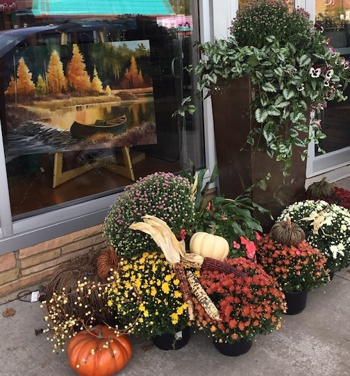 "Sivertson Gallery, one of the stops on the Fall Studio Tour, is featuring fall colors and a painting by Howard Sivertson, ""Larch Creek,"" in the front window."