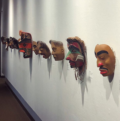 The Northwest Coast mask exhibit at the Thunder Bay Art Gallery closes this weekend.
