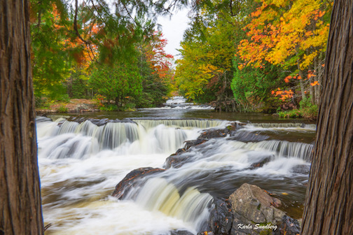 Bond Falls, Michigan, by Karla Sundberg.
