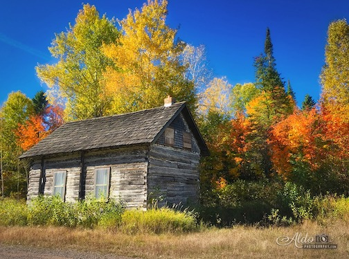 Old rustic cabin on the backroads near Grand Portage by Aldo Abelleira.