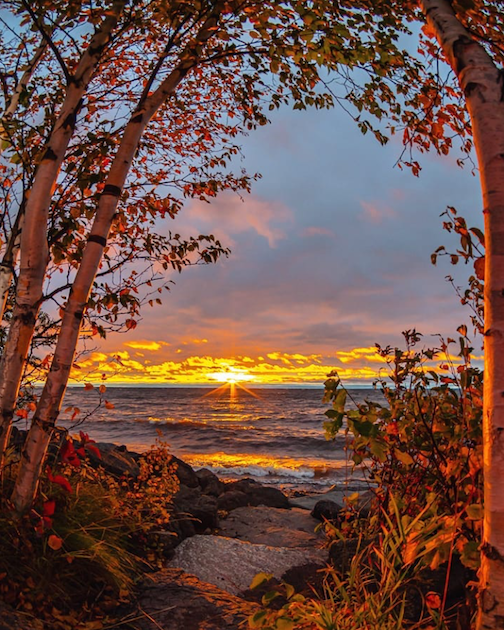 Fall sunrise by Christian Dalbec.