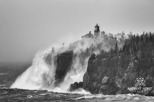 Spume on Split Rock Lighthouse by Dawn LaPointe and Gary Fiedler.
