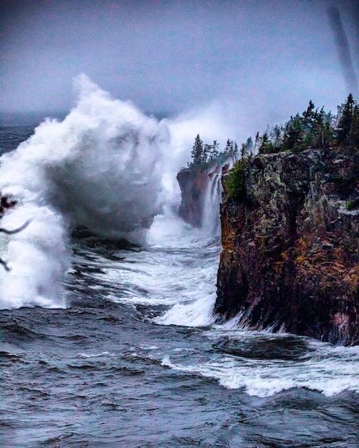 October storm at Tettegouche. Photograph  by Tone Coughlin, courtesy Destination Duluth.