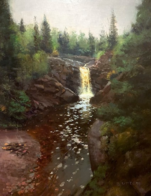 Bob Upton receive the Best of Show award at the Plein Air competition with this painting. Photo courtesy of Don Davison.