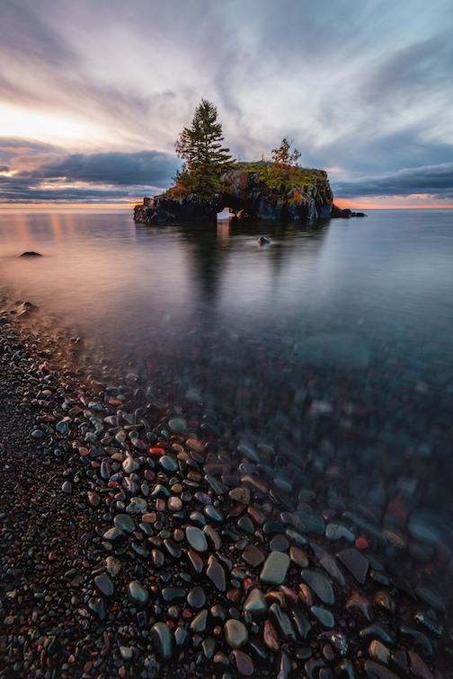 Sunrise at Hollow Rock by John Keefover.