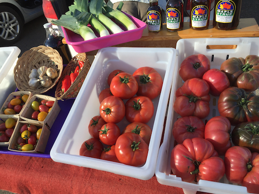 Melinda Spinler and the other growers will have lots of tomatoes at the Local Food Market this week.