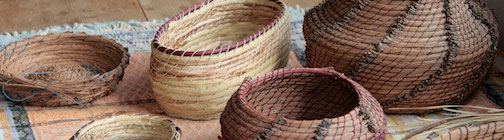 North House Folk School will host a Pop-UP Basket Market from 3-5 p.m. Friday. Pictured are pine needle baskets.