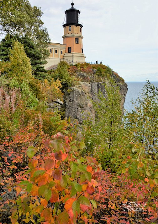 Fall colors are starting to decorate Split Rock Lighthouse.