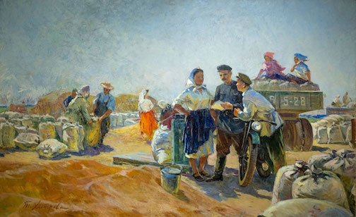 "'Harvest"" by Tamara Khitrova. (1955)"