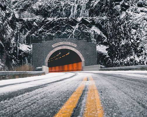 Silver Creek tunnel by Cindy Larson.