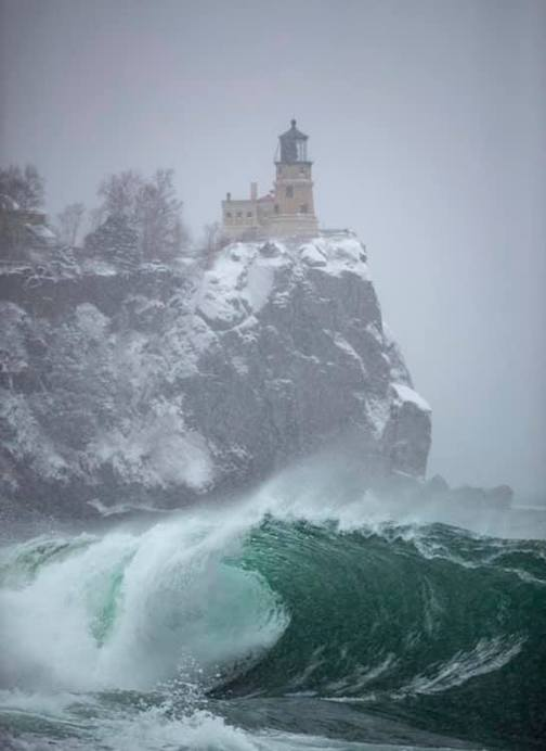 Lake Superior was kicking up some monstrous waves today by Alex Kormann.