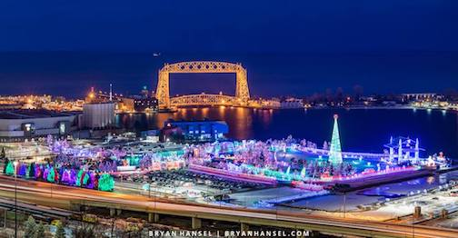 The Bentleyville Tour of Lights in Festival Park in Duluth opens this Saturday. Photo by Bryan Hansel.