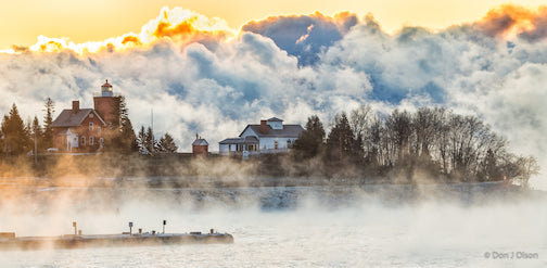 Sea smoke in Agate Bay, Two Harbors by Donald J Olson.