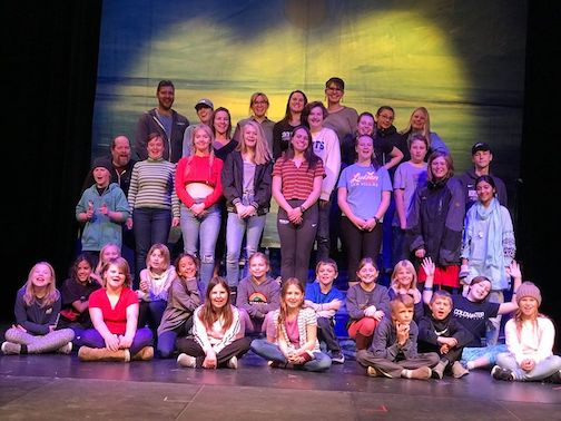 The cast and crew of Disney's Little Mermaid, presented by the Grand Marais Playhouse at the Arrowhead Center for the Arts. The play opens at 7 p.m. Thursday.