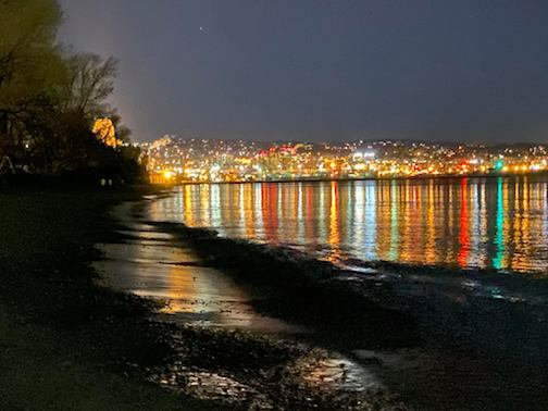 Dancing lights of Duluth by Helen Mongan.