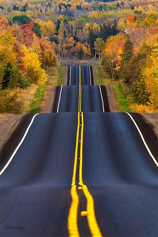 """Compression Highway"" by Jamie Rabold is one of the images that will be in the Frozen Photographer's exhibit that opens at the Johnson Heritage Post on Friday. The reception is from 5-7 p.m."