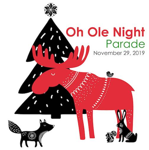 The Oh Ole Night Parade is in downtown Grand Marais on Friday.