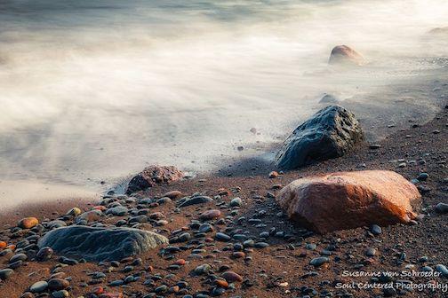 Lake Superior rocks by Susanne Von Schroeder.